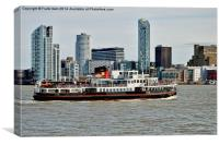 The Mersey ferryboat Snowdrop, Canvas Print