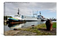 RFA Gold Rover in Birkenhead Docks., Canvas Print