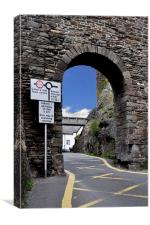 An archway in Conway, North Wales, Canvas Print