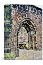 One of Birkenhead Priory's (St. Mary's Church) arc, Canvas Print