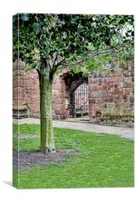 One of Birkenhead Priory's (St. Mary's Church) old, Canvas Print