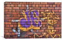 A  Sample of wall bound graffiti, Canvas Print