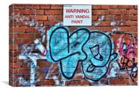 Wall bound graffiti (Does the paint work?), Canvas Print