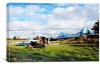 Alongside the River Dee at Connah's Quay, Canvas Print