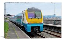 An Arriva train at Deganwy Station, Canvas Print
