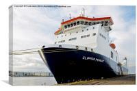 MS Clipper Pennant -a Ro-Ro car ferry, Canvas Print