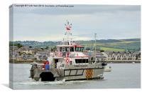 The Maltraeth Bay, Wind Farm Support Vessel, Canvas Print