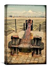 Ships anchor as a visitor attraction, Canvas Print
