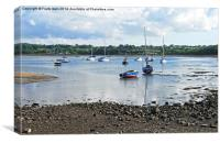 Looking out across Red Wharf Bay, Anglesey, North , Canvas Print