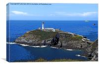 South Stack Island & lighthouse, Anglesey, Canvas Print