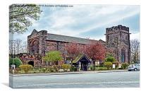 Christ Church, Port Sunlight, Wirral, UK, Canvas Print
