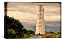 Leasowe Lighthouse Grunged effect, Canvas Print