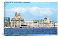 Liverpools Famous Three Graces, Canvas Print
