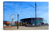Echo Arena Liverpool, with its Ferris Wheel, Canvas Print