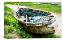 An abandoned and worse for wear boat, Canvas Print