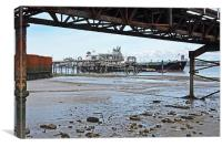 The River Mersey's Tranmere Oil Terminal, Canvas Print