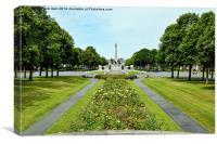 The Port Sunlight War memorial, Canvas Print