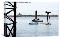 An old part of Tranmere Oil Terminal , Canvas Print