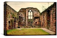 One of Birkenhead Priory's (St. Mary's Church) ol, Canvas Print