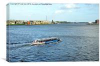 Local cruises on the Rhine, Canvas Print