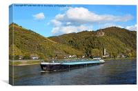 River boats of the Rhine artistically done, Canvas Print