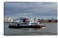 Mersey Ferryboat MV Royal Iris, Canvas Print