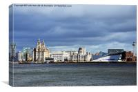 Liverpool's famous waterfront, Canvas Print