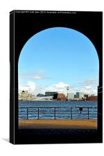 Mersey view from Birkenhead, Canvas Print
