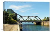 Egerton Bridge, Birkenhead, Merseyside, Canvas Print