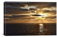 Beautiful Sunrise in Gran Canaria (Paintesd effec, Canvas Print