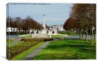 Port Sunlight war memorial, Canvas Print