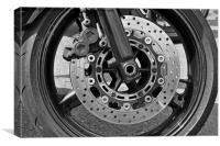 Motorcycle disc brake, Canvas Print
