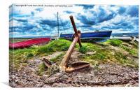 Heswall Beach vista, Canvas Print