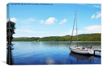 A yacht lies anchored on Windermere