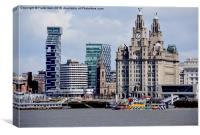 "Dazzla ship ""Snowdrop"" passing Liverpool's Front, Canvas Print"