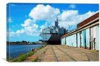 Support Tanker, RFA Orangeleaf (A110), Canvas Print