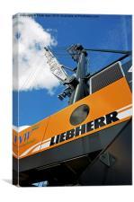 Liebherr Crawler crane in Birkenhead Docks