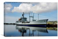 RFA Black Rover in Birkenhead Docks, Canvas Print