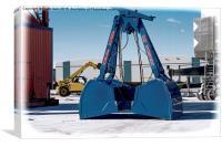 Clamshell crane bucket (Grunged effect)