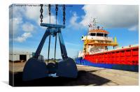 MV Richelieu in Birkenhead Docks, Wirral, UK, Canvas Print