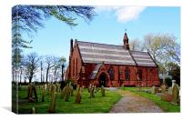 St John the Divine, Frankby, Wirral, Canvas Print
