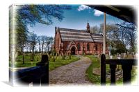 St John the Divine, Wirral (Grunged effect), Canvas Print