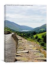 Tan-y-Grisiau reservoir, Ffestiniog, North Wales, Canvas Print