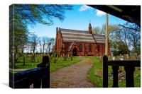 St John the Divine, Frankby, Wirral, UK, Canvas Print