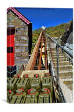Lift to the lifeboat station in St Justinians, Canvas Print
