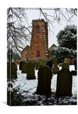 Holy Cross Church, Woodchurch, Wirral, UK , Canvas Print
