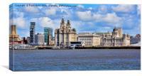 "Liverpool's famous ""Three Graces."", Canvas Print"