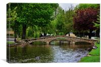 Bourton-on-the-water - Little Venice, Canvas Print