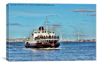 Mersey Ferryboat, Royal Daffodil on the Mersey., Canvas Print
