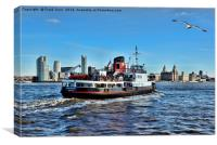 Royal Daffodil departing Seacombe for Liverpool, Canvas Print